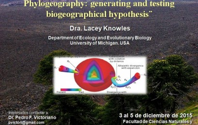 "Seminario ""Integrative frameworks in Statistical Phylogeography: generating and testing biogeographical hypothesis"""