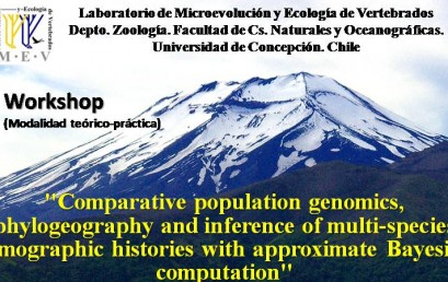 "Workshop ""Comparative population genomics, phylogeographyand inference of multi-species demographic histories with approximate Bayesian computation"""