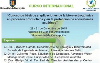 """Curso """"Conceptos básicos y aplicaciones de la bio-electroquímica en procesos productivos y en la protección de ecosistemas acuáticos"""""""