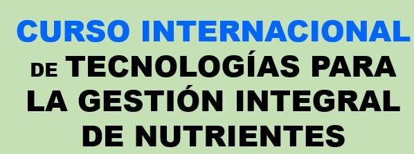 Curso Tecnologías para la gestión integral de nutrientes
