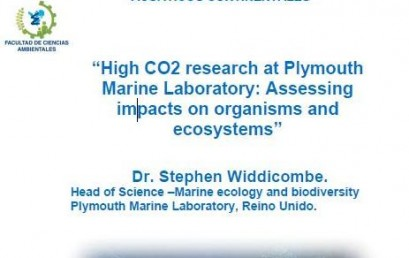 "SEMINARIO ""HIGH CO2 RESEARCH AT PLYMOUTH MARINE LABORATORY: ASSESSING IMPACTS ON ORGANISMS AND ECOSYSTEMS"""
