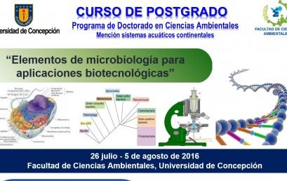 ELEMENTOS DE MICROBIOLOGÍA PARA APLICACIONES BIOTECNOLÓGICAS
