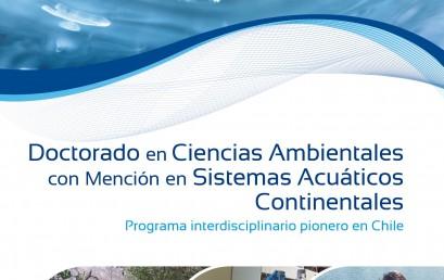 ABIERTA POSTULACIONES PARA INGRESAR AL PROGRAMA DOCTORADO EN CIENCIAS AMBIENTALES