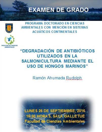 Próximo Examen de Grado del  señor Ramón Ahumada