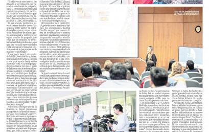 Anita Laborde en noticia Diario el Sur