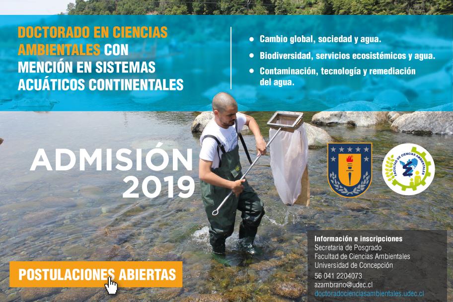 Postulaciones abiertas: Doctorado en Ciencias Ambientales Admisión 2019