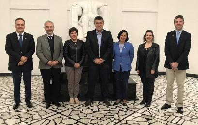 Delegación de la UdeC visita universidades brasileñas para establecer cooperación