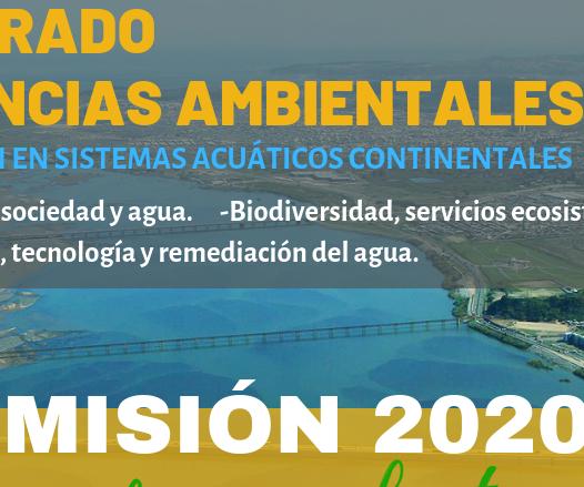 """ADMISIÓN 2020 DOCTORADO EN CIENCIAS AMBIENTALES """"ABIERTAS POSTULACIONES"""""""
