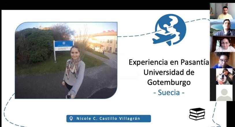 Estudiantes del programa de doctorado participan en conversatorio de pasantías al extranjero.